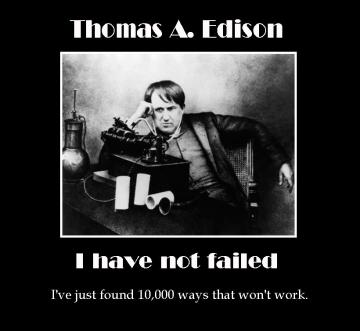 I've not failed - Edison